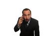 businessman al telefono sul punto di esplodere