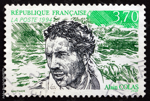 Photo Postage stamp France 1994 Alain Colas, Sailor