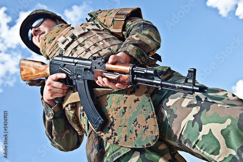soldier with ak-47 Wallpaper Mural