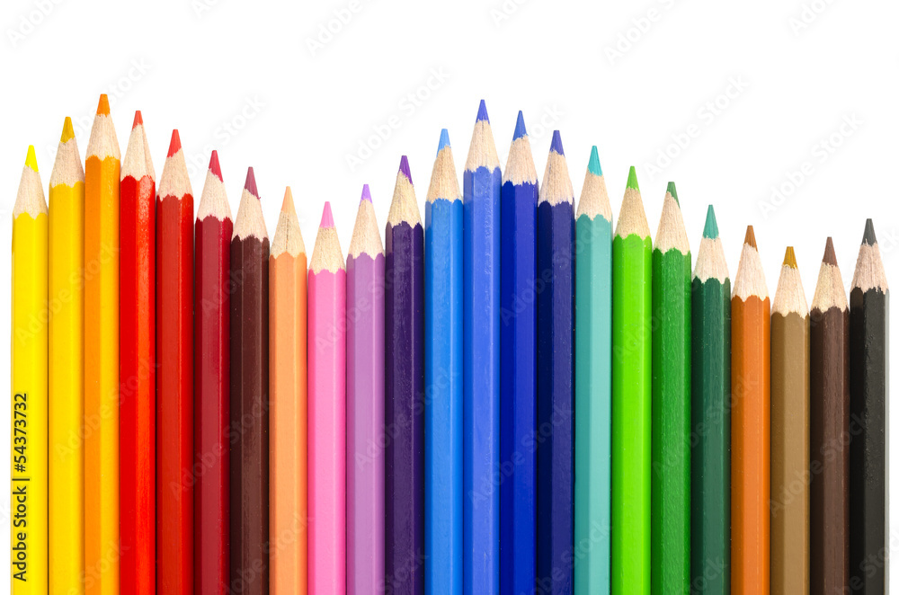 Fototapety, obrazy: Colored pencils making a wave