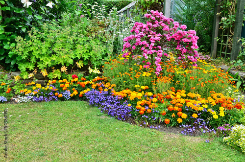 Foto op Plexiglas Tuin Summertime garden