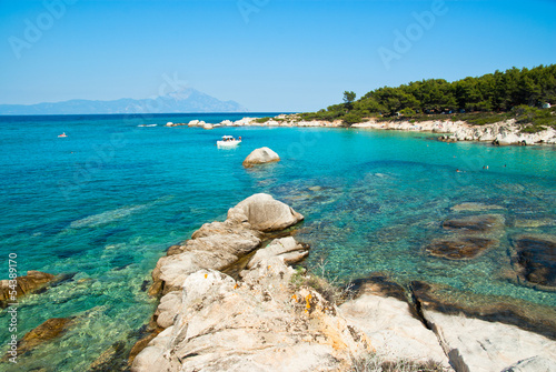 Valokuvatapetti Amazing beach Greece Sarti