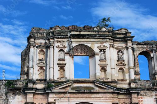 Fotografie, Obraz  Ruina de iglesia parte superior