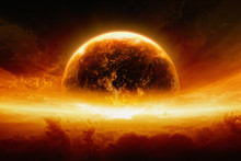Burning And Exploding Planet E...