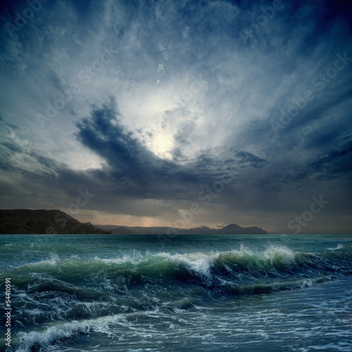 Canvas Prints Storm Stormy sea
