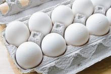 A Dozen Of Eggs In A Box