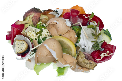 Fotografia, Obraz  Food waste isolated concept