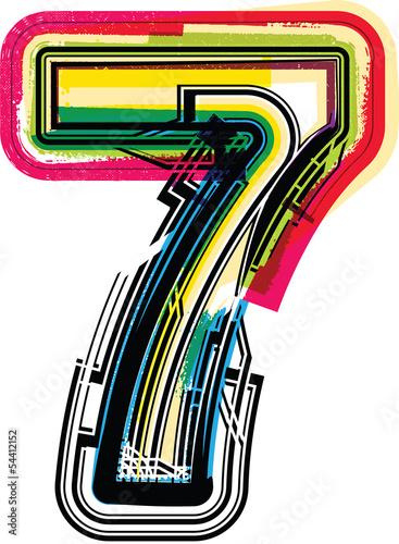 Fotografia  Colorful Grunge NUMBER 7