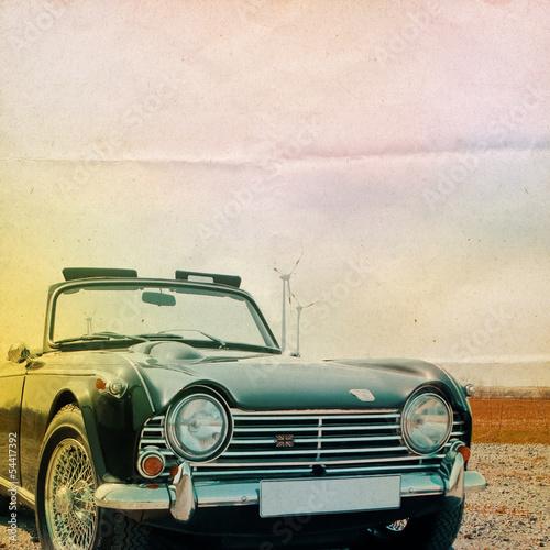 Fototapeta na wymiar Oldtimer Background Triumph