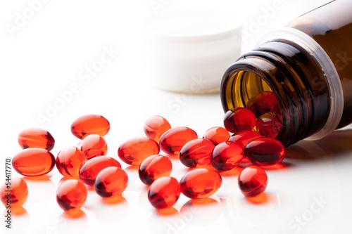 Fotografia  vitamin E capsules