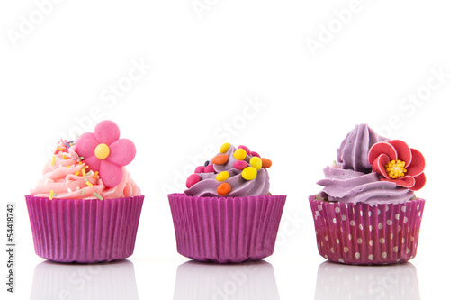 Purple and pink cupcakes Poster