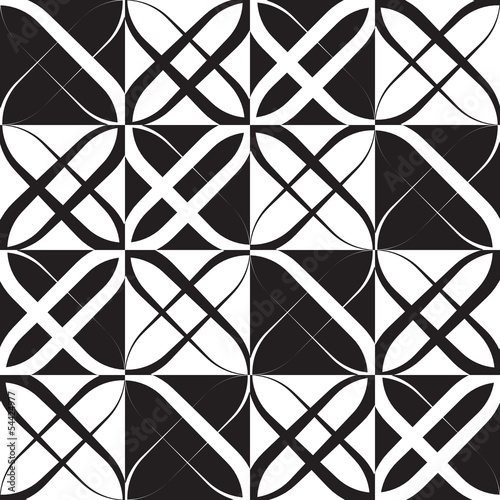 Naklejka na meble Monochrome Geometric Pattern