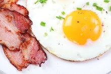 Close-up Of Fried Egg And Baco...