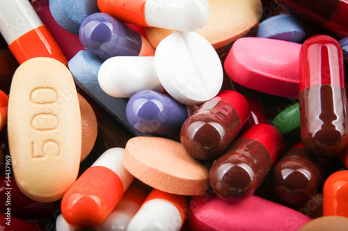 Leinwand Poster pills and capsules