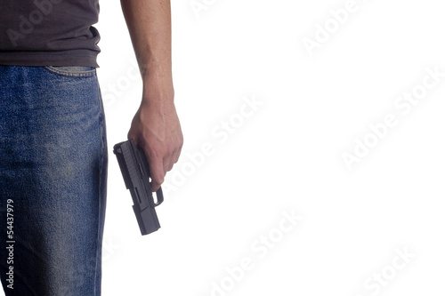 Photo  Man holding a pistol