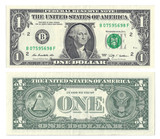 One dollar face and Back