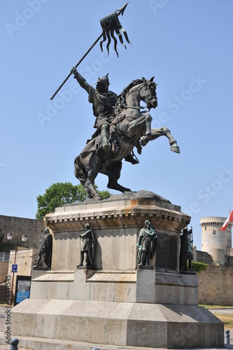 Statue Guillaume le Conquêrant à Falaise 2 Poster
