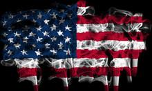 Smoking Flag Of America, Usa