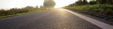 Weg Zum Ziel - Landstraße Und Sonnenaufgang - Optimismus