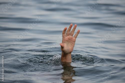 hand drowning Slika na platnu