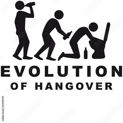 Fotografie, Obraz  Evolution Of Hangover