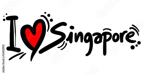 Love Singapore Wallpaper Mural