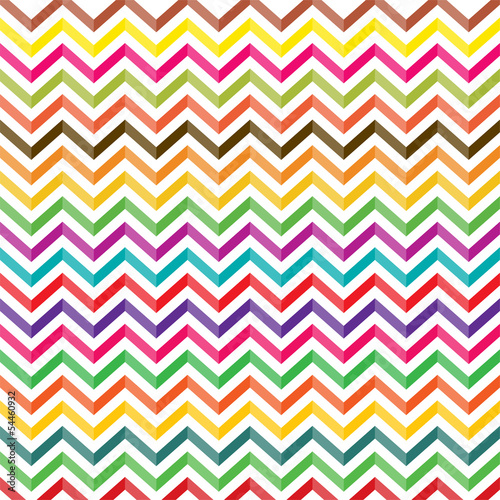 Deurstickers ZigZag colorful zigzag patterned background