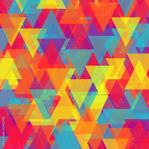 Spoed Foto op Canvas ZigZag Vector of abstract triangle background