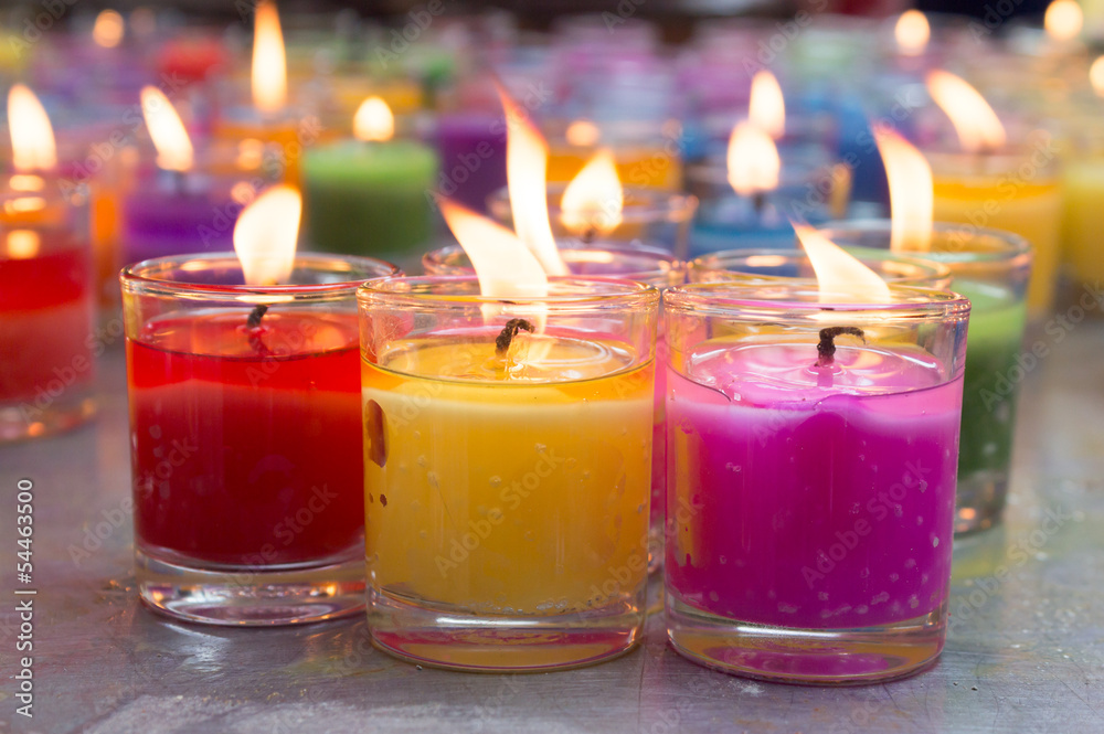 Fototapety, obrazy: colorful burning candles