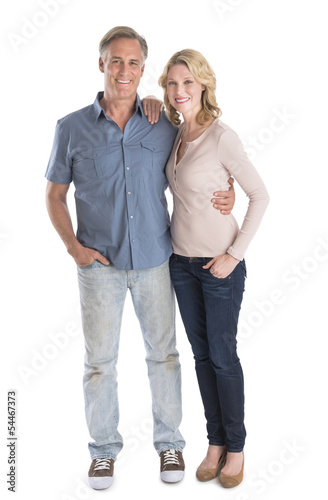 Fotografie, Obraz  Mature Couple Standing With Hands In Pockets
