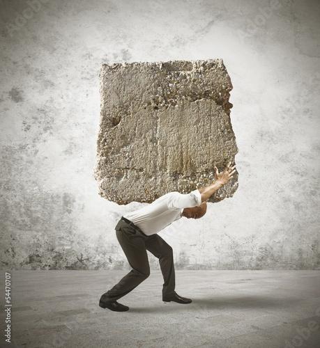 Fotografia  Stress of a businessman