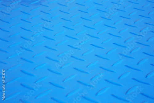 Photo blue antiskid industry floor - detail