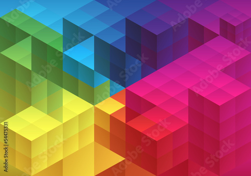 Abstract geometric background, vector Poster