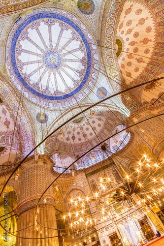 Photo  Sultanahmet Mosque (Blue Mosque) in Istanbul, Turkey