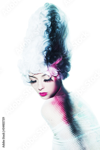 Canvas Print avant-garde fashion portrait
