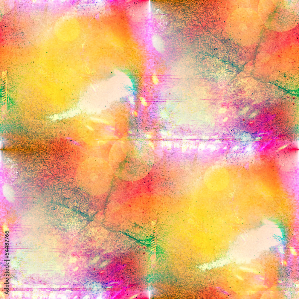 sunlight seamless abstract art pink, yellow texture, watercolor