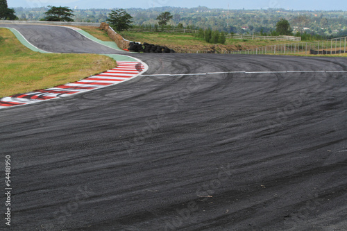 Foto op Canvas F1 Tire marks