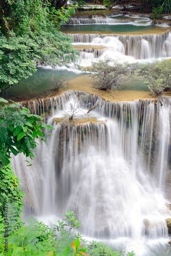 Naklejka na szybę Waterfall in tropical forest in Thailand