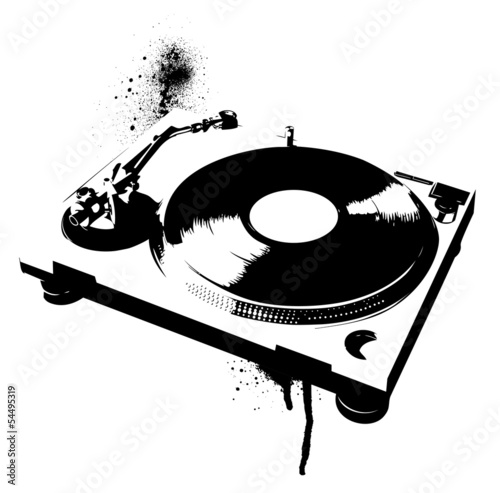 stencil-gramofon