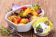 Gebackenes Gemüse mit Kräuterquark