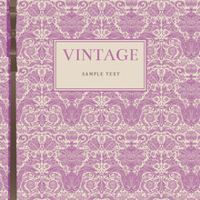 Vintage Purple Background With...