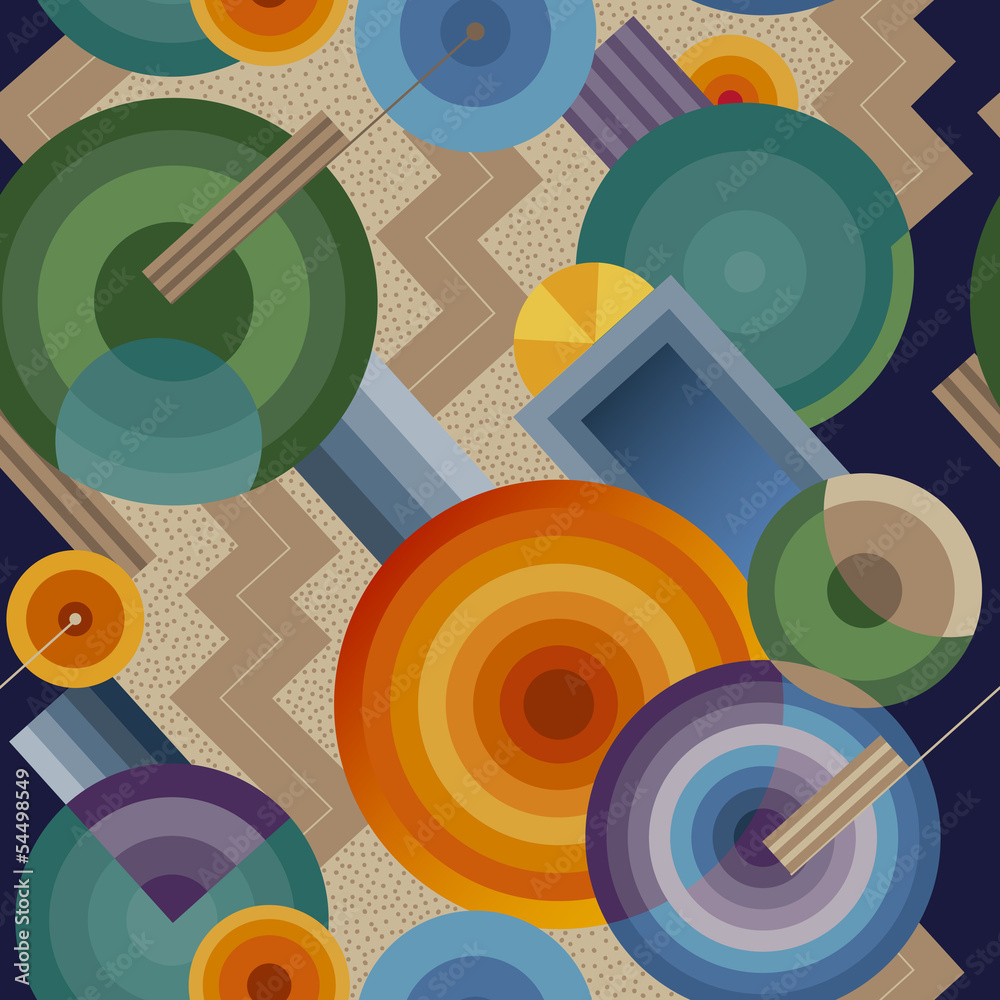 Seamless geometric pattern in retro style Art Deco