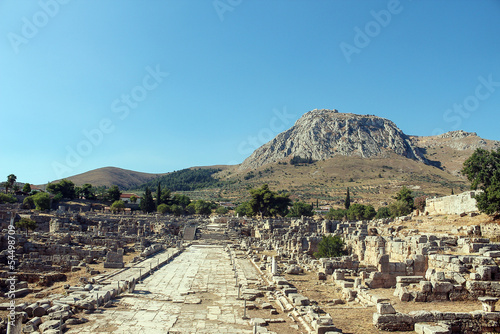 ruins of Ancient Corinth Tapéta, Fotótapéta