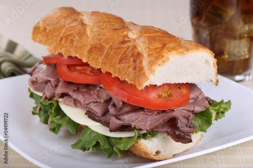 Valokuva Roast Beef on French Bread