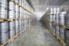 Rows Of Beer Kegs In Stock Bre...