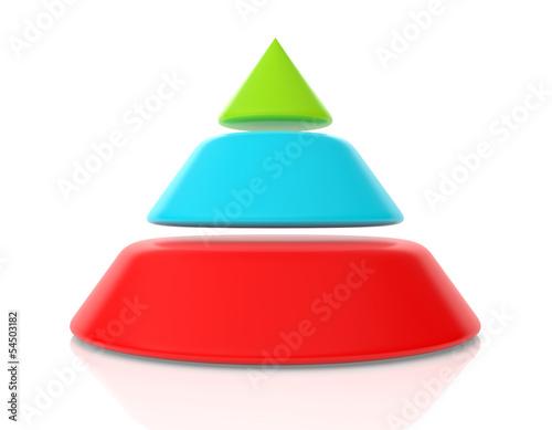 Obraz 3d pyramid - fototapety do salonu