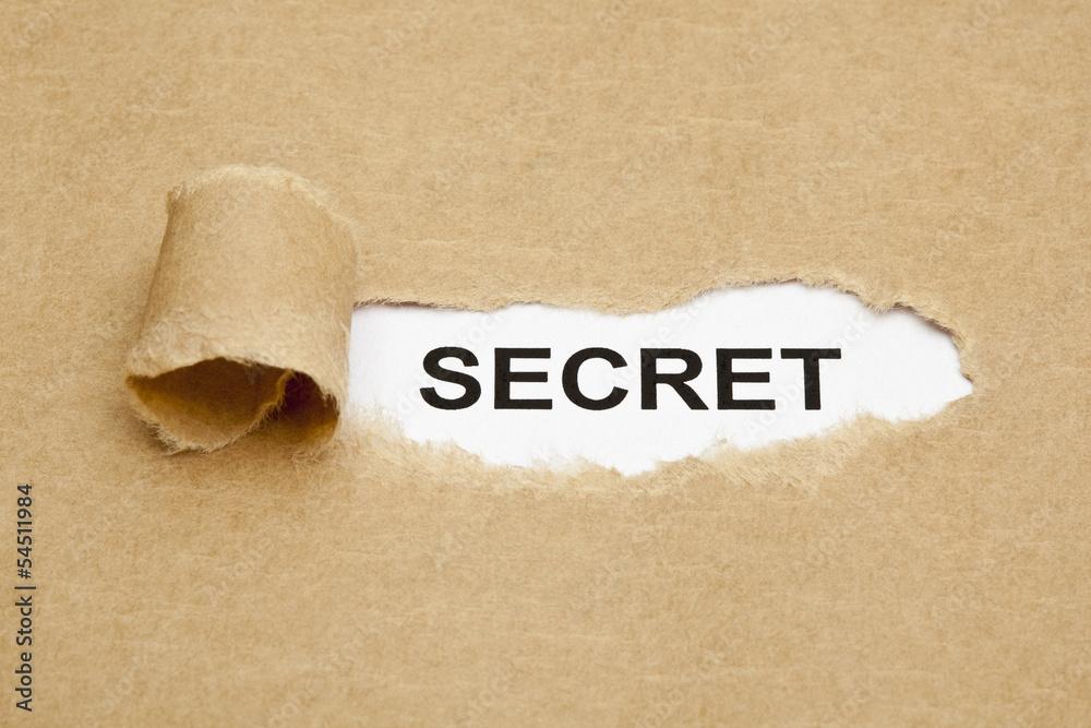 Fototapeta Word Secret Brown Paper Concept