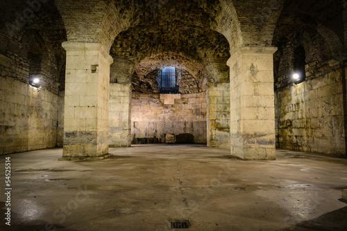 Papiers peints Les vieux bâtiments abandonnés Rustic Underground Room
