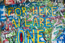 Colorful John Lennon Wall In P...