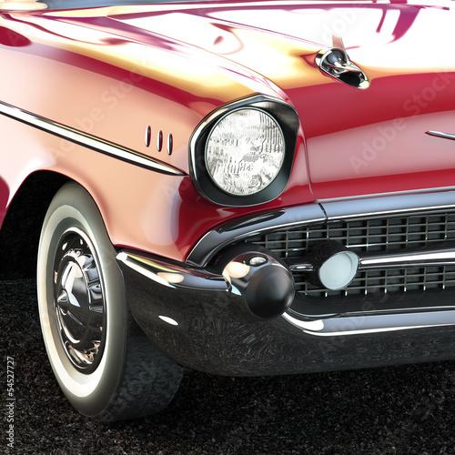 Fototapeta na wymiar vintage luxury car close-up 3d illustration